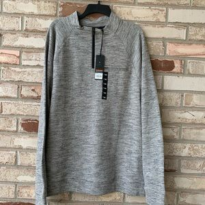 NWT XXL Marc Anthony 1/4 zip Heather gray top